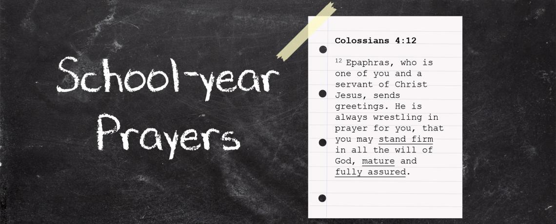 School-Year Prayers